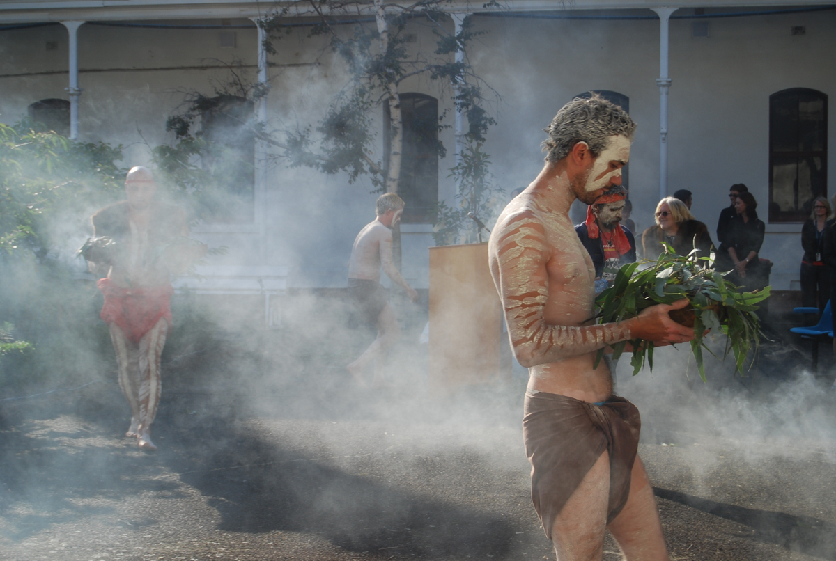 Wurundjeri smoking ceremony