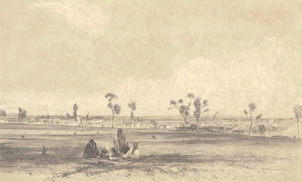 Melbourne from Collingwood, 1843